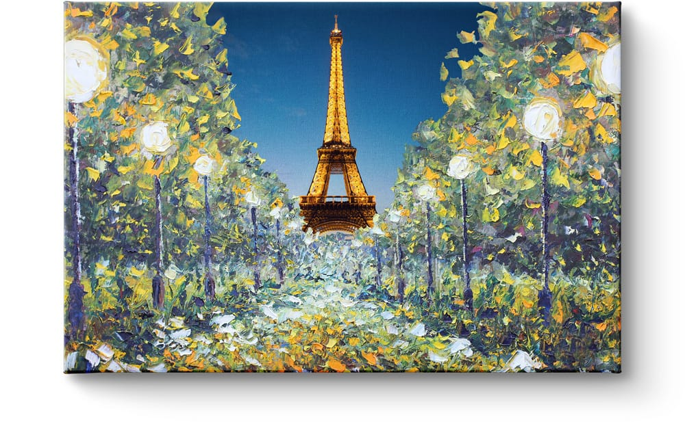 Eiffel tower on canvas