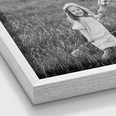 Photo on canvas with floating frame