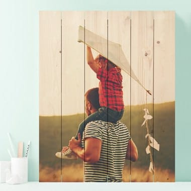 Photo on wood