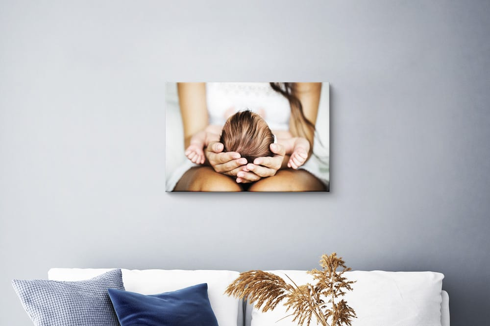 Small canvas print on the wall