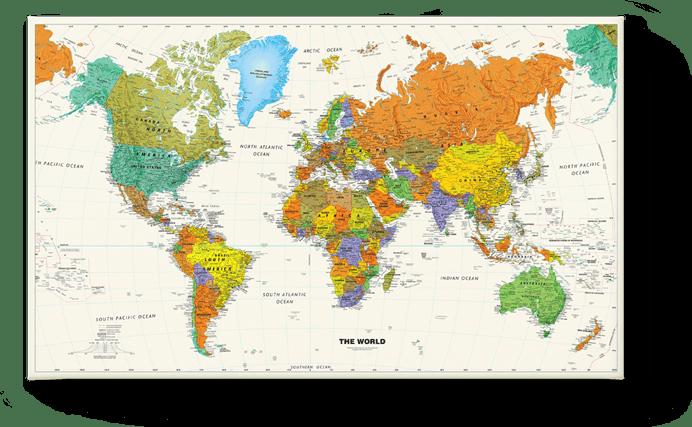 World Map School 1