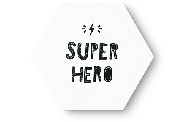Hexagon super hero