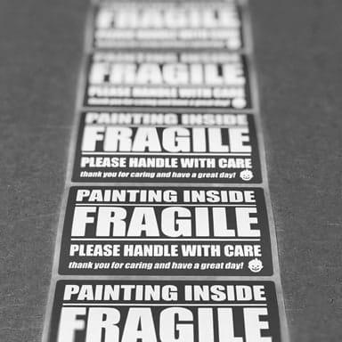 Fragile canvas prints