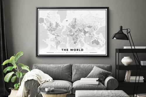 Map on canvas