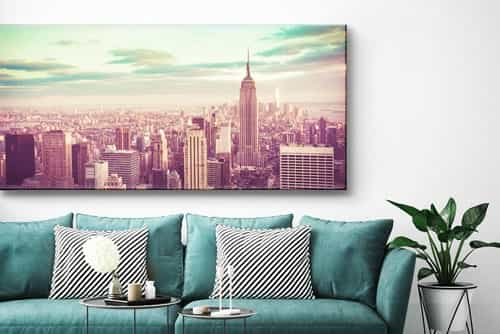 Panoramic photo on canvas