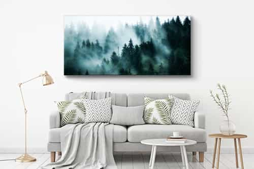 Panoramicphoto on canvas