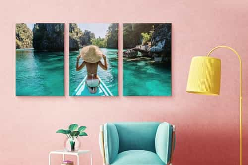 Canvasprint triptych